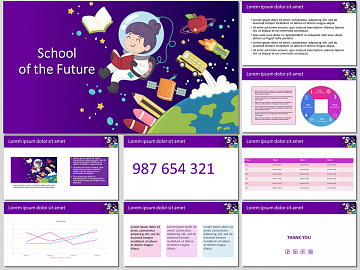 School of the Future - Free PowerPoint Template and Google Slides Theme